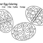 Easter Eggs Color by Numbers