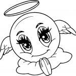 Emoji Coloring Pages - Angel