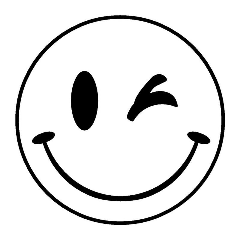 Emoji Coloring Pages - Big Wink