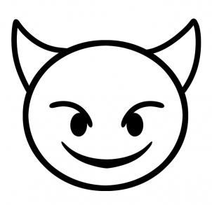 Emoji Coloring Pages - Devil