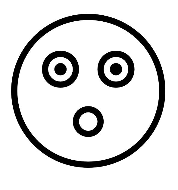 Emoji Coloring Pages - Surprised