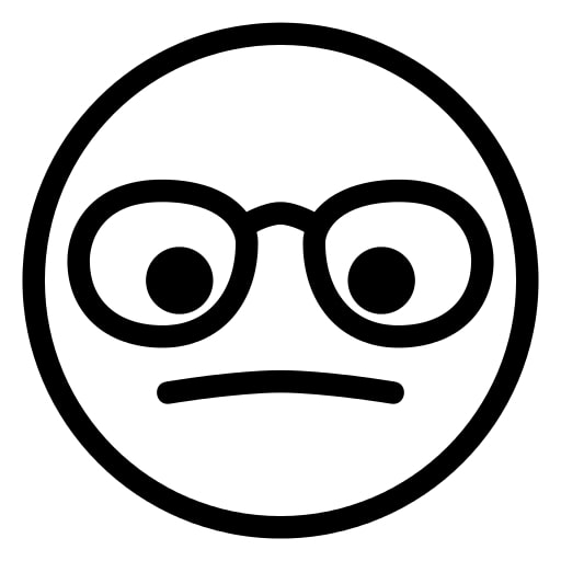 Emoji Coloring Pages - Wearing Glasses