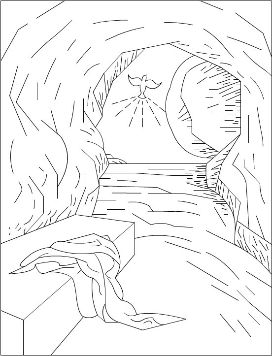 Empty Tomb   Religious Easter Coloring Pages