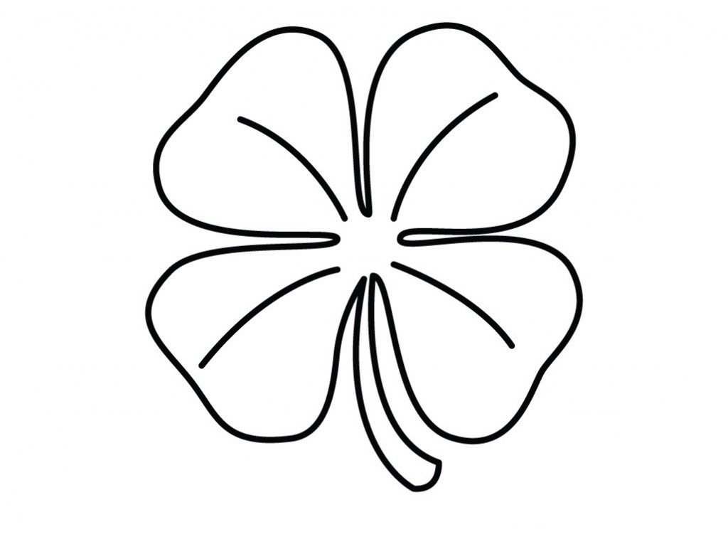 Four Leaf Clover Coloring Pages Best Coloring Pages For Kids