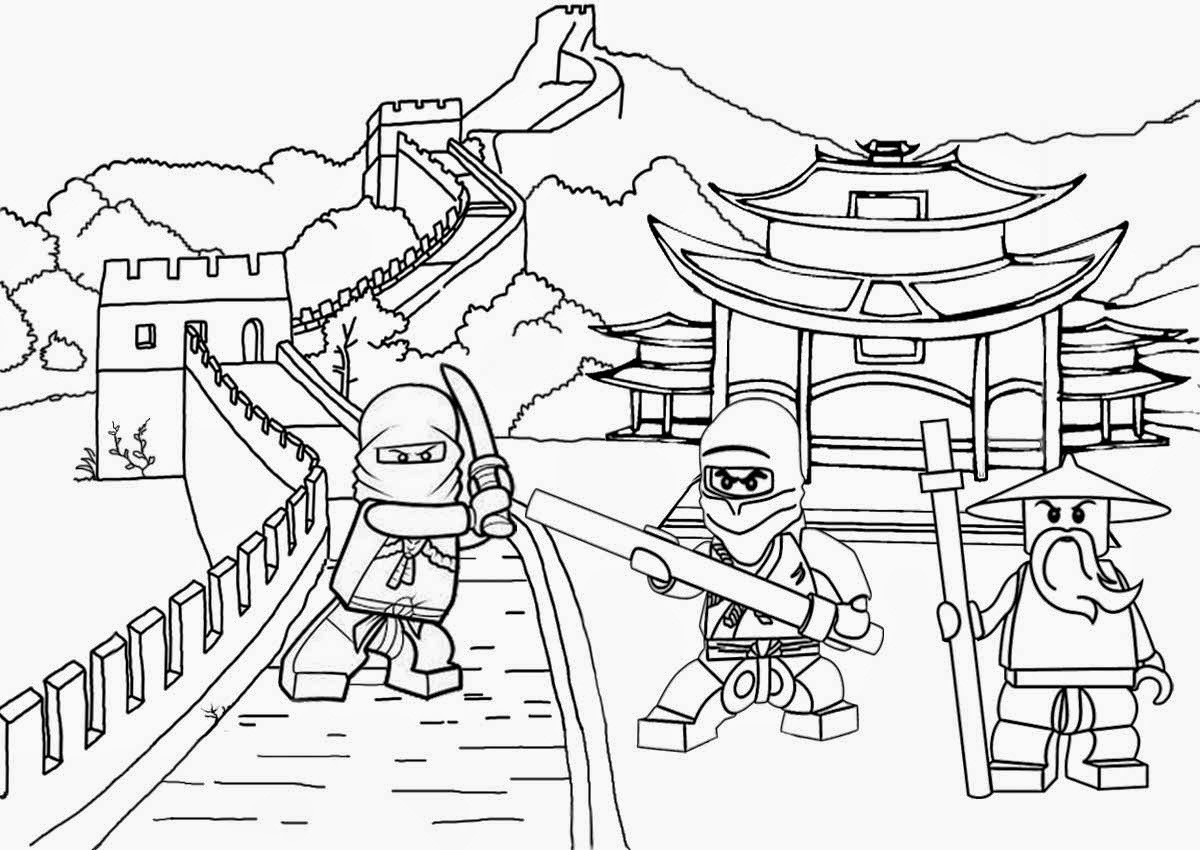 It's just a picture of Modest ninjago coloring picture