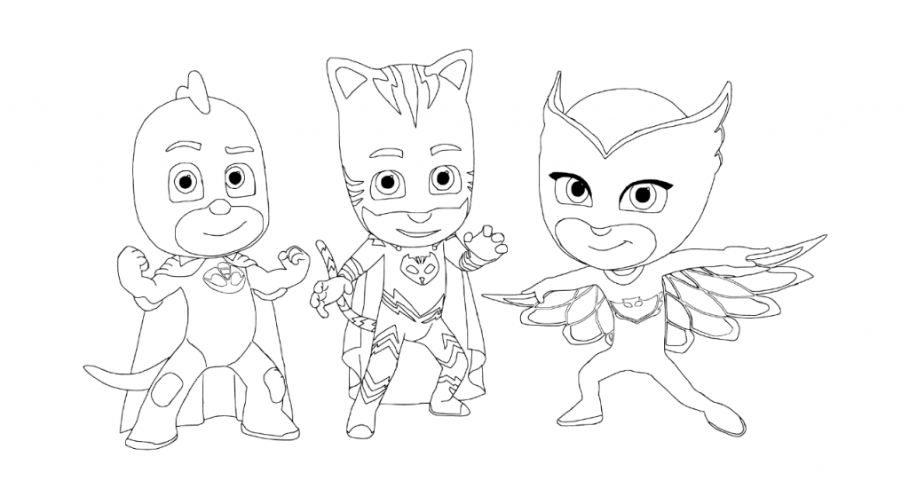 Free Printable PJ Masks Coloring Pages