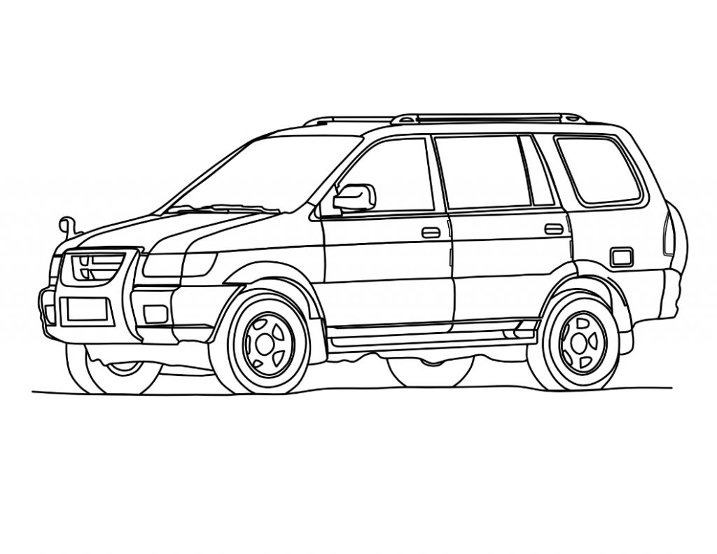 Free SUV Car Coloring Pages