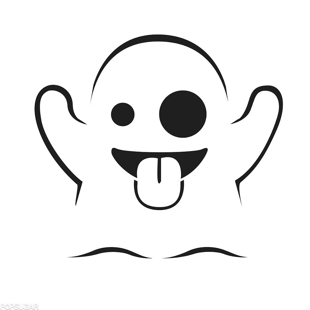Ghost - Emoji Coloring Pages