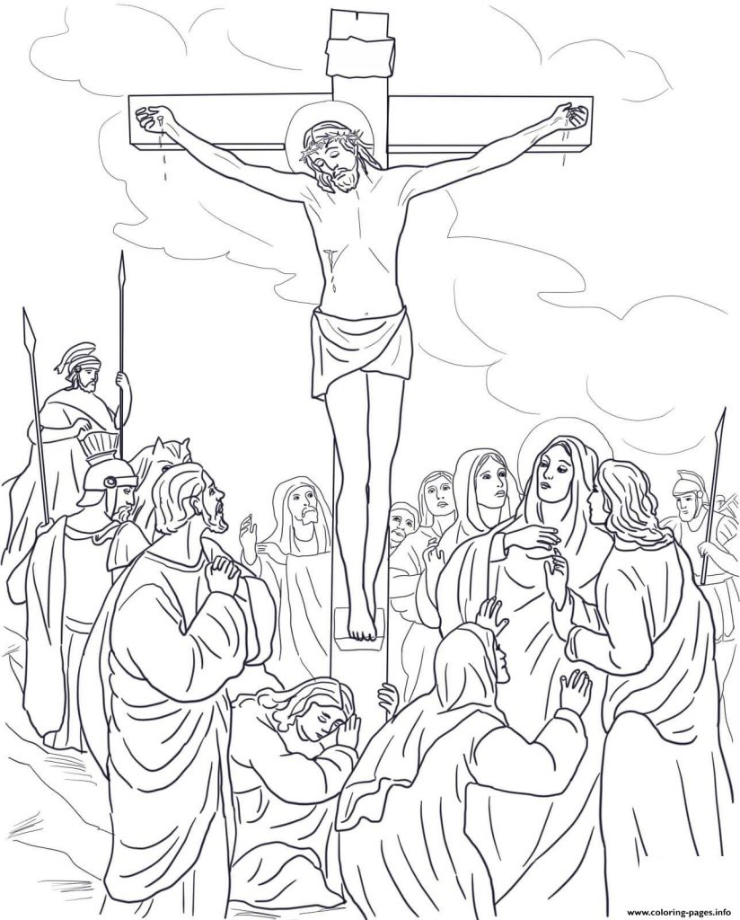 Good Friday Coloring Pages Free