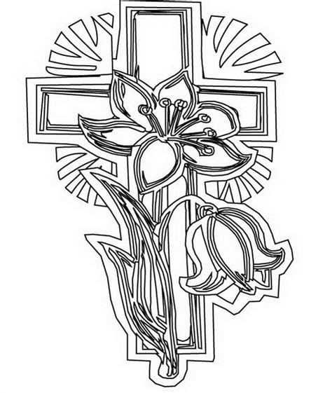 Good Friday Cross Coloring Page