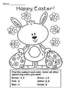 Happy Easter Color by Numbers