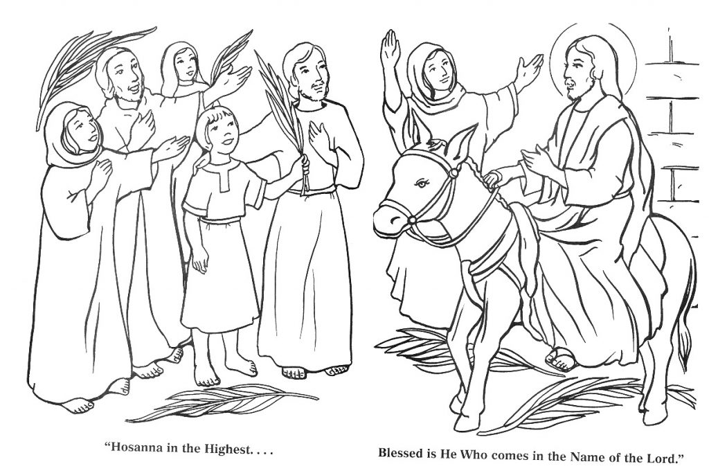 Hosanna in the Highest - Palm Sunday Coloring Pages