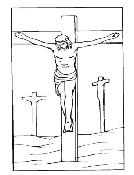 Jesus Good Friday Coloring Pages