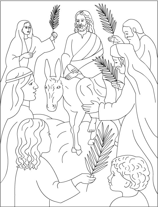 Jesus Palm Sunday Coloring Pages