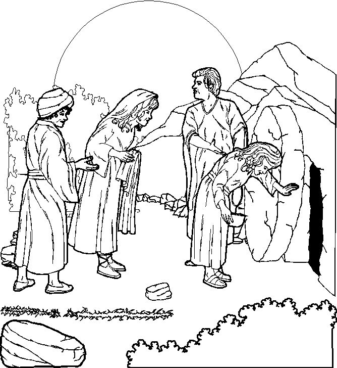 Jesus resurrection religious easter coloring pages