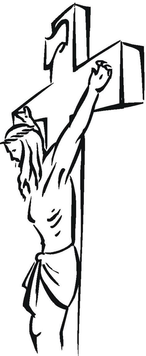 Jesus On Cross Good Friday Coloring Page