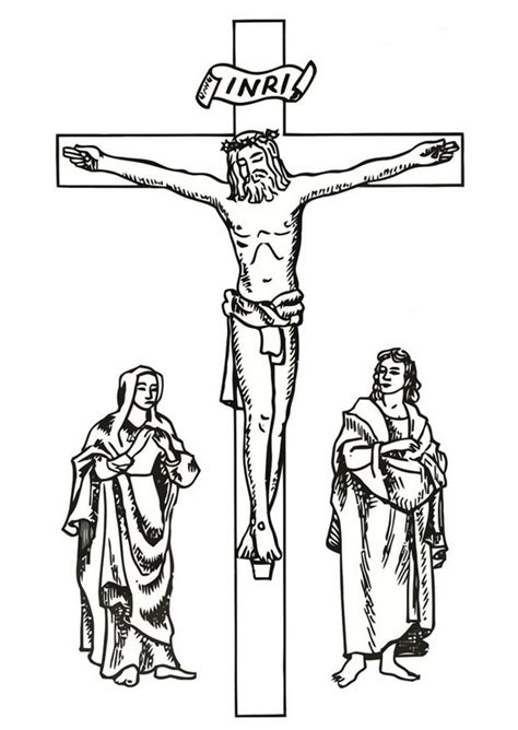 Jesus on Good Friday Coloring Pages