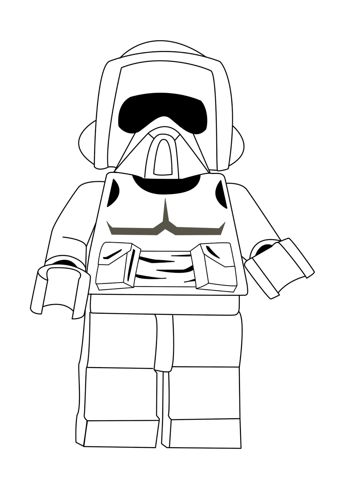 picture relating to Printable Lego Coloring Pages titled Lego Star Wars Coloring Webpages - Most straightforward Coloring Internet pages For Small children