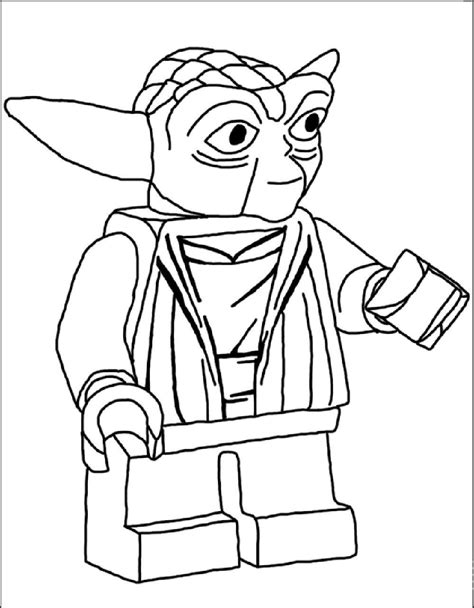 Lego Star Wars Coloring Pages Yoda