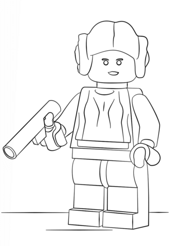 Leia Lego Star Wars Coloring Pages