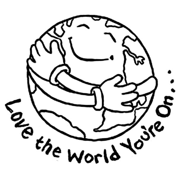 Love the world earth day coloring pages