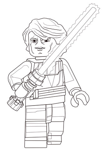 Luke Lego Star Wars Coloring Pages
