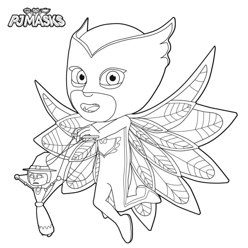 PJ Masks Coloring Character Pages