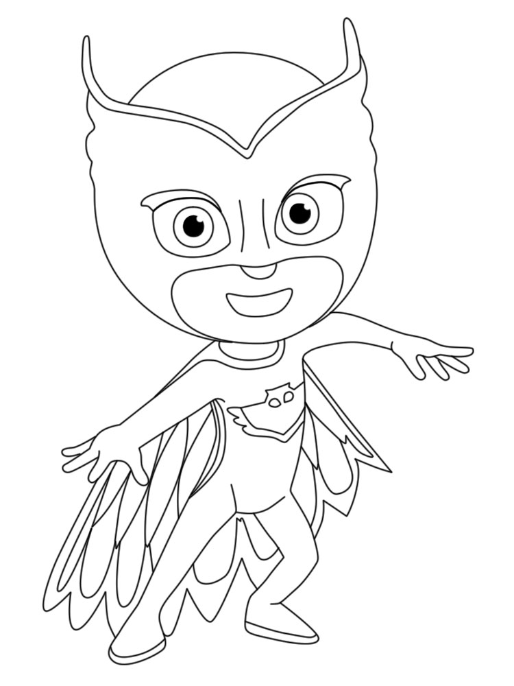 Exhilarating image regarding pj masks coloring pages printable