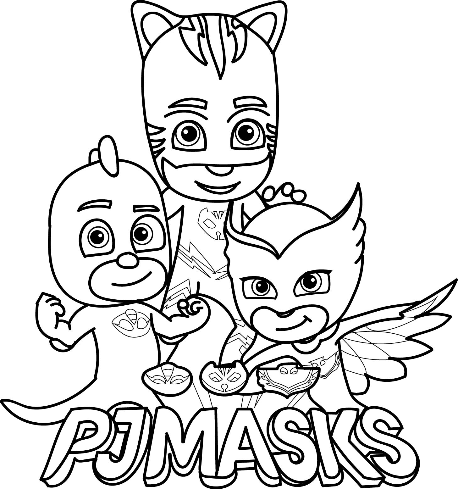 pj masks coloring pages printable PJ Masks Coloring Pages   Best Coloring Pages For Kids pj masks coloring pages printable