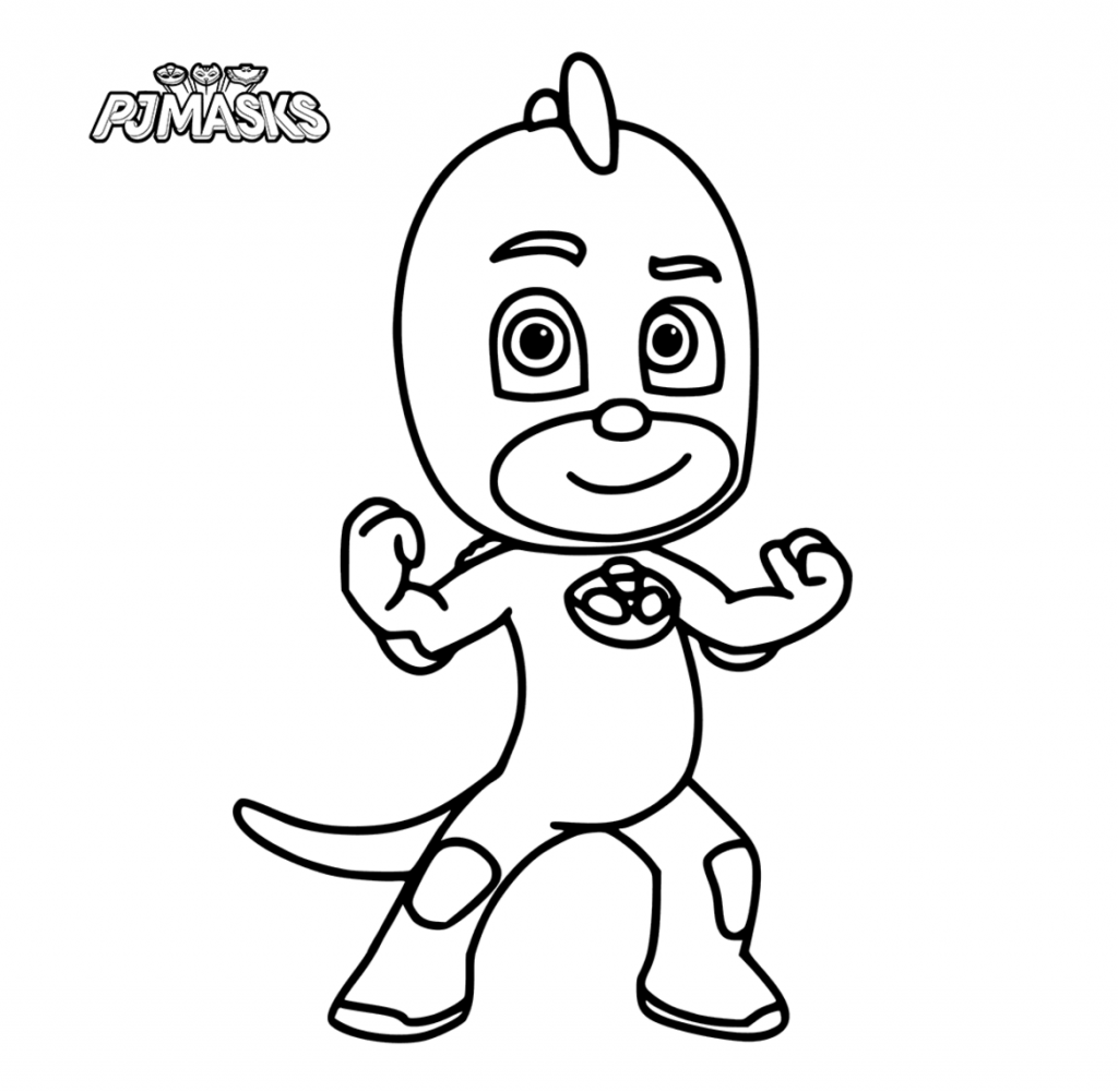 PJ Masks Gekko Coloring Pages