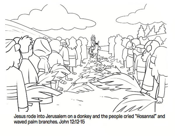 palm sunday donkey coloring pages - photo#21