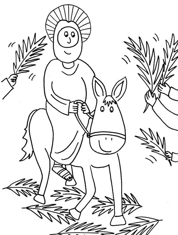 palm sunday donkey coloring pages - photo#14