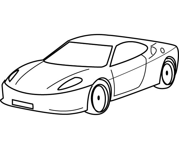 Print Car Coloring Pages