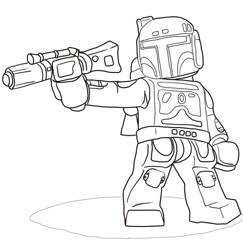 Print Free Lego Star Wars Coloring Pages