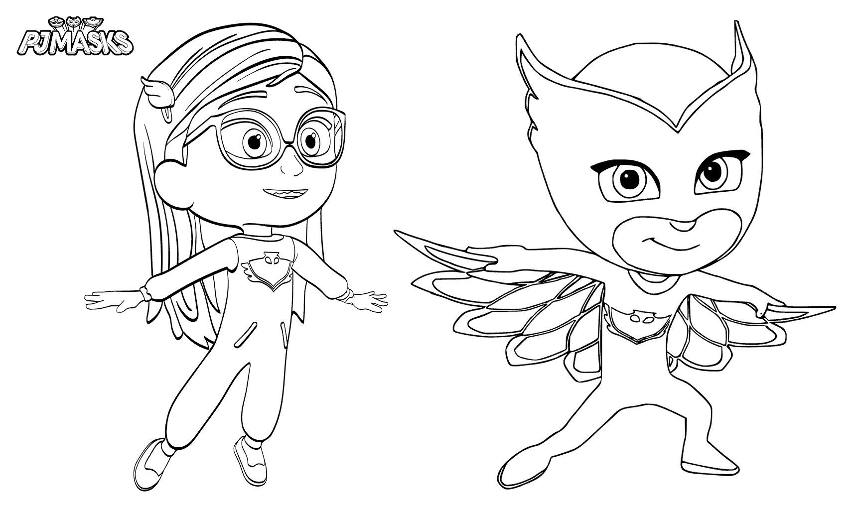 Vibrant image with regard to pj masks coloring pages printable
