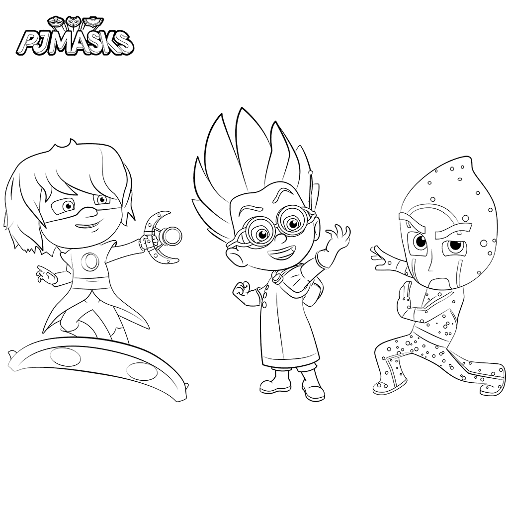 Print PJ Masks Coloring Pages