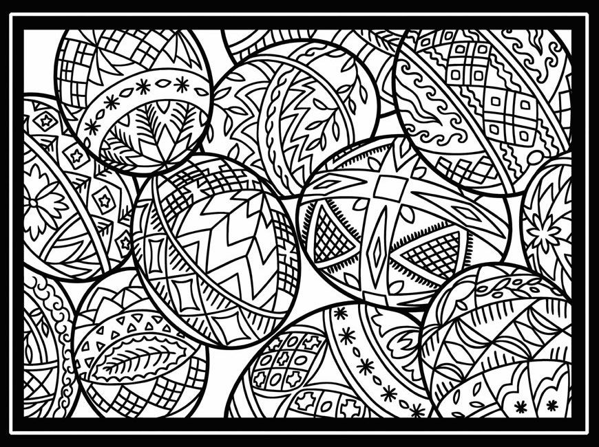 Printable Easter Coloring Pages for Adults Free