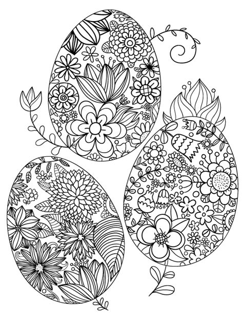 Printable Easter Coloring Pages for Adults