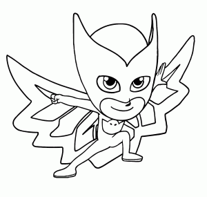 Printable PJ Masks Coloring Page Characters