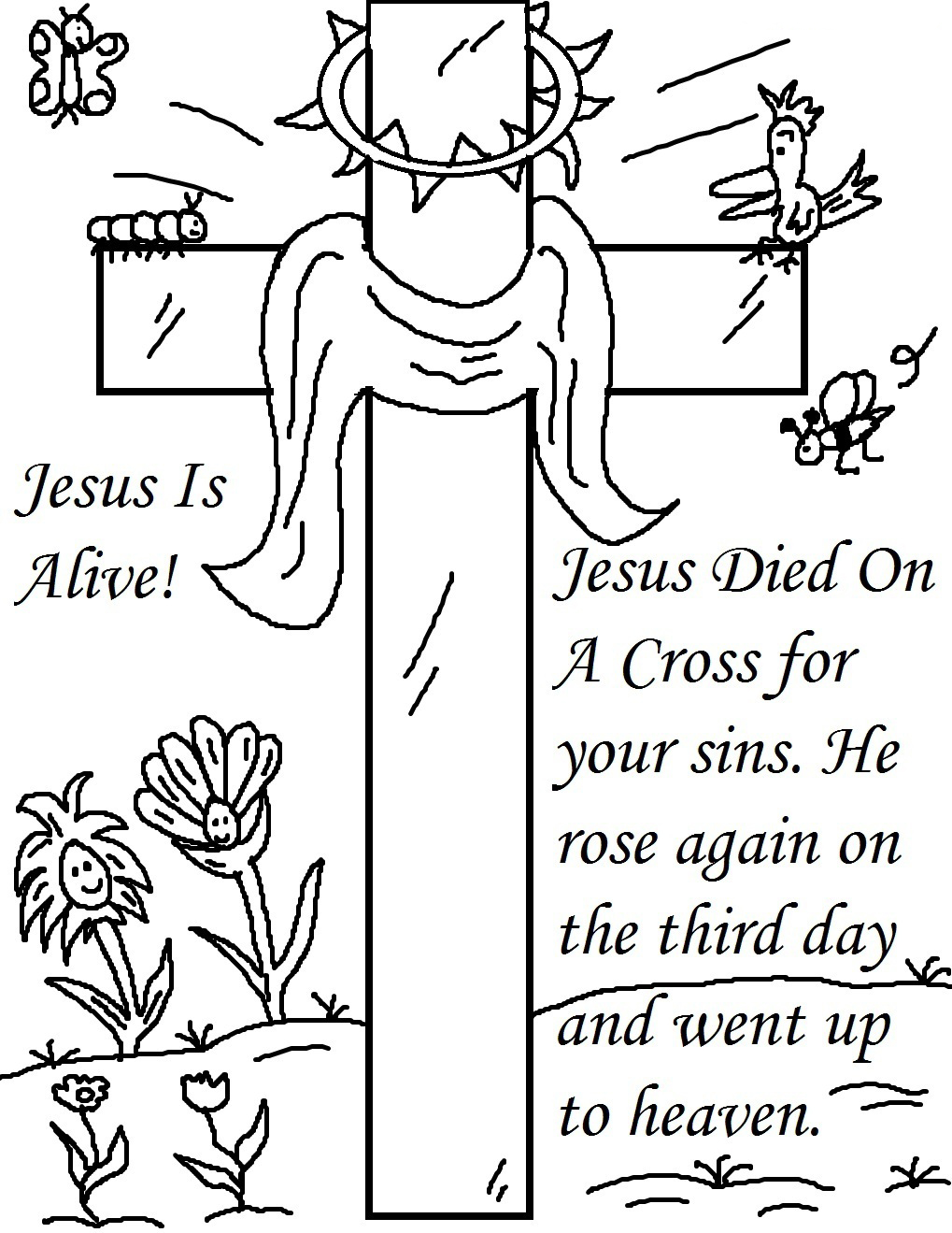 Religious Easter Coloring Sheet