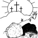 Resurrection - Religious Easter Coloring Pages