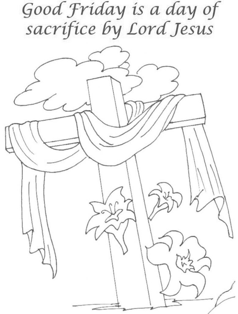 Sacrifice Good Friday Coloring Pages