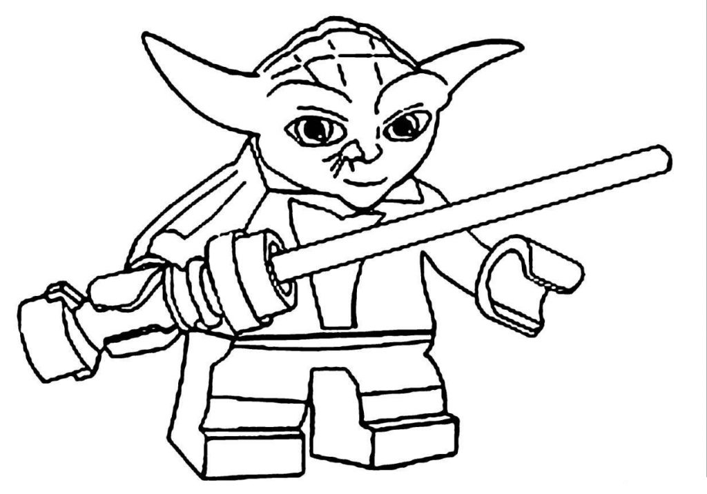 Yoda Lego Star Wars Coloring Pages