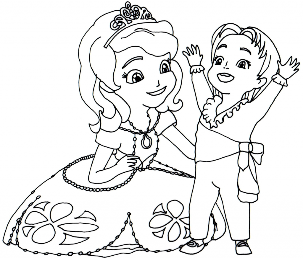 Baby James Sofia the First Coloring Pages