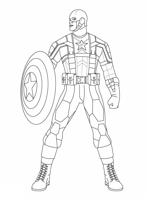Cap'n - Marvel Coloring Pages