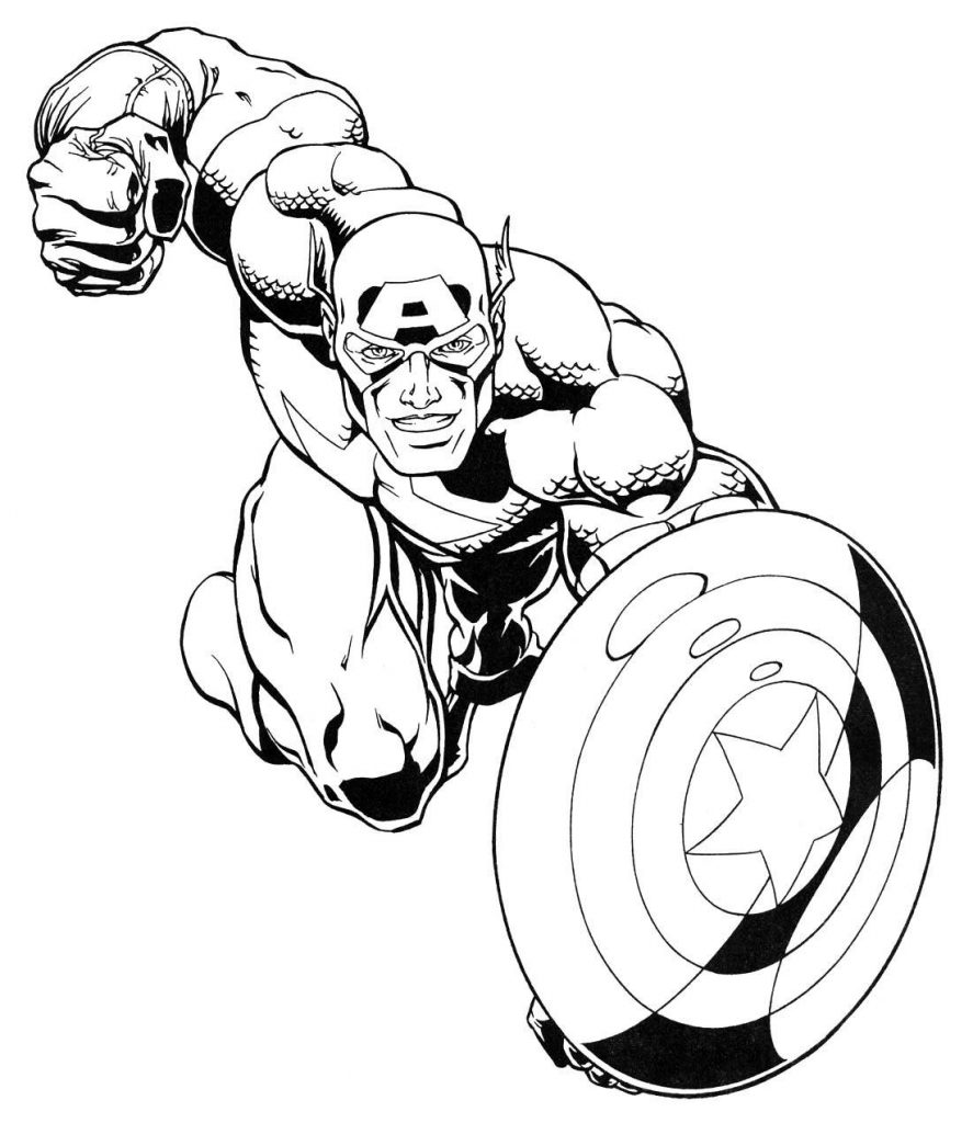Captain America Marvel Coloring Pages