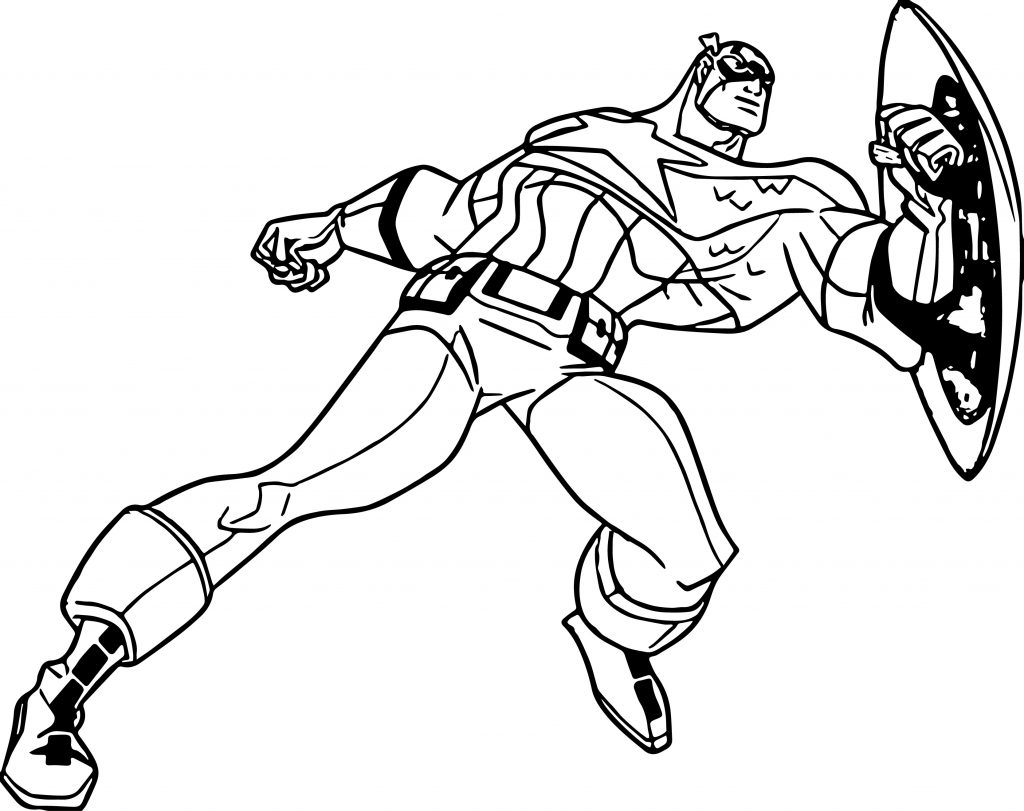 Captain America - Marvel Coloring Pages