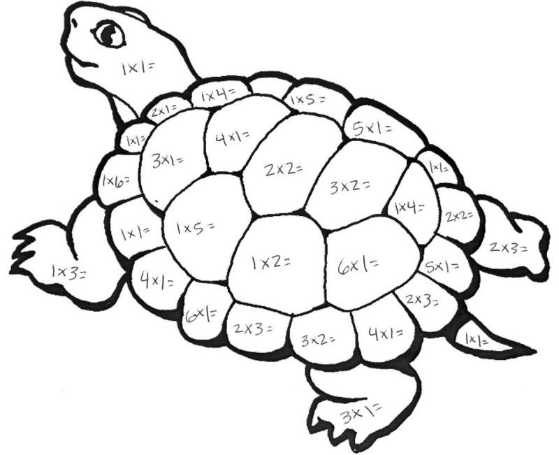 Drawing Lines For Multiplication : Color by number multiplication best coloring pages for kids