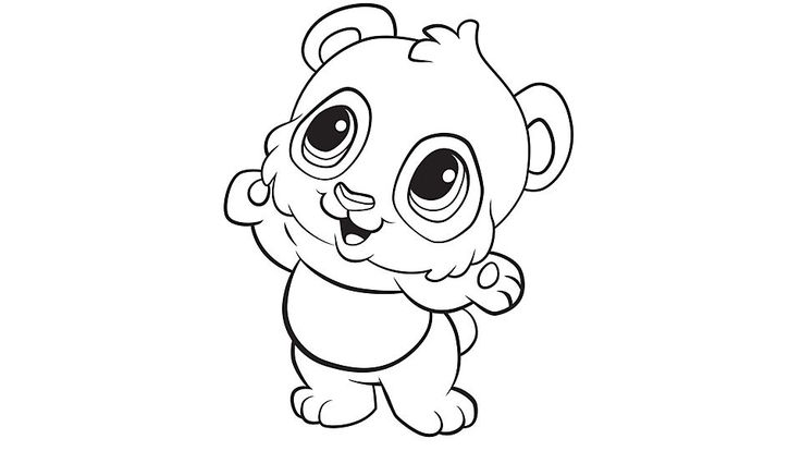 Cute Animal Kawaii Coloring Page