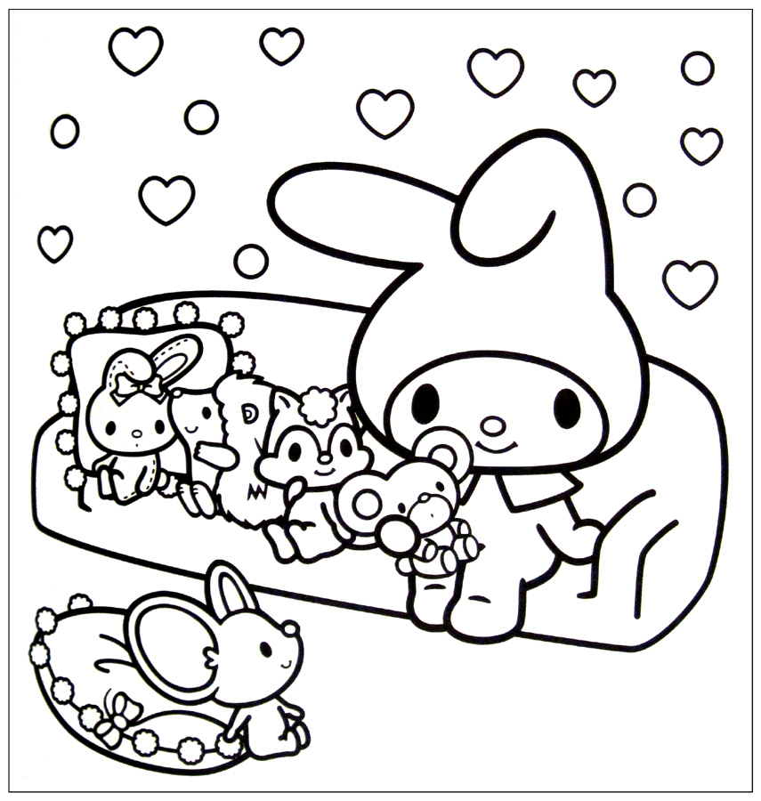 Cute Hello Kitty Kawaii Coloring